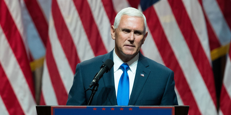 Donald Trump's newly selected vice presidential running mate Mike Pence, governor of Indiana, speaks during an event in NYC.