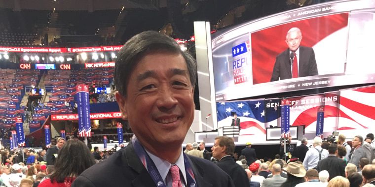 Colorado delegate George Leing at the RNC in Cleveland, Ohio