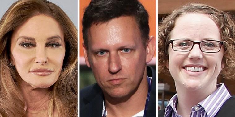 Image: Caitlyn Jenner, Peter Thiel and Rachel Hoff