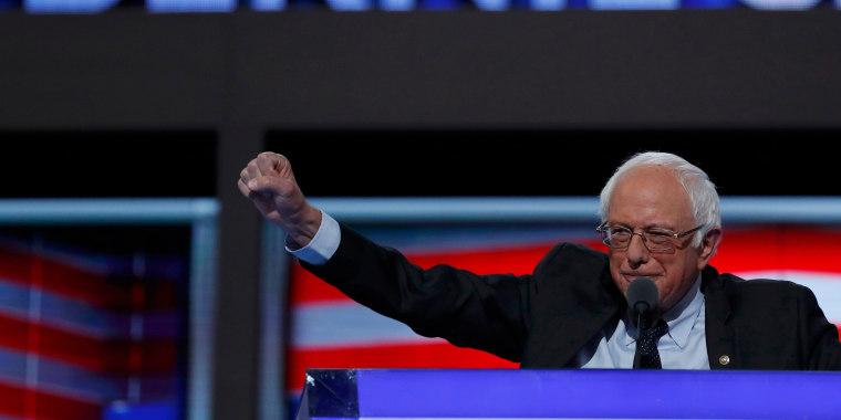 Image: Bernie Sanders at DNC