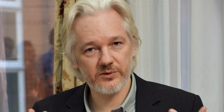 Image: WikiLeaks founder Julian Assange during a news conference