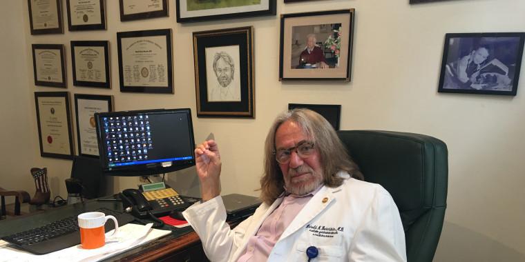 Dr. Harold Bornstein in his office.