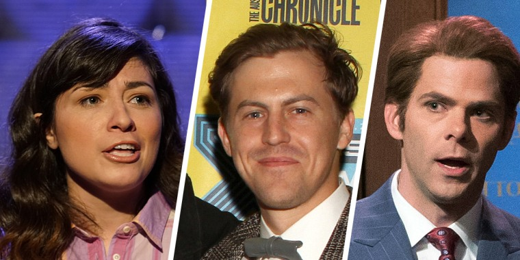 From left, Melissa Villasenor, Alex Moffat and Mikey Day