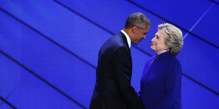 Image: Obama and Clinton at the DNC