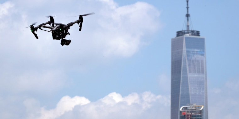 Image: Drone Racing Event Held On New York City's Governors Island
