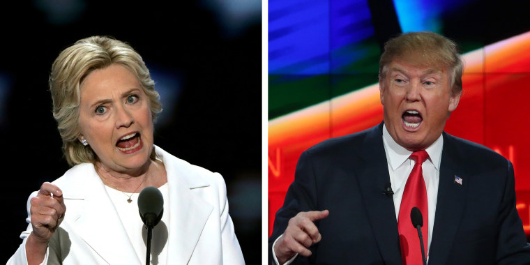 Image:Presidential Candidates Hillary Clinton (L) and Donald Trump