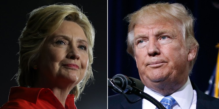Image: Democratic presidential nominee Hillary Clinton and Republican presidential candidate Donald Trump