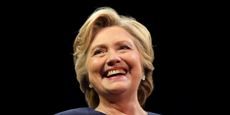 u s democratic presidential nominee hillary clinton smiles as she greets the crowd at a fundraiser in san francisco california u s october 13 2016