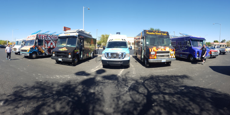 Photo Of Taco Trucks Parked In Las Vegas Drawing Potential Eligible Voters To Register People VotePili Tobar