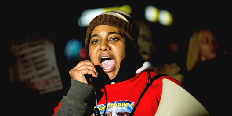 Image: Daughter Of Eric Garner Leads Protest March In Staten Island