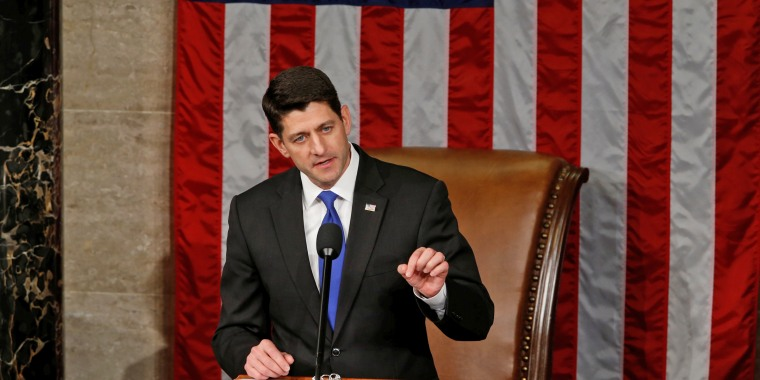 U.S. House Speaker Ryan addresses the opening session of the new Congress on Capitol Hill in Washington
