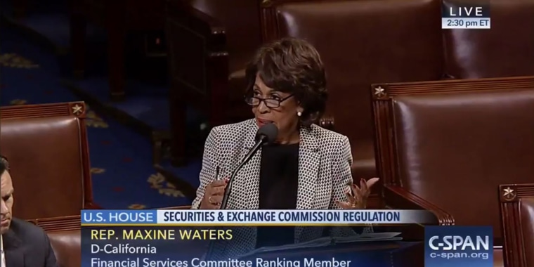 Image: Rep. Maxine Waters speaking on C-SPAN on Jan. 12.