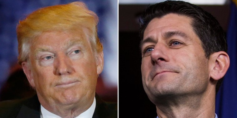 Image: President Donald Trump and Republican Speaker of the House Paul Ryan.