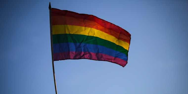 Image: A Nicaraguan LGBT community member and supporter holds up a rainbow flag on June 14, 2016.