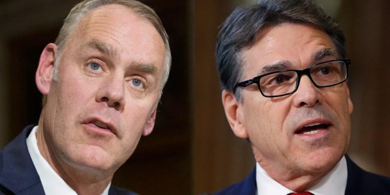 Senate Committee Indefinitely Delays Votes on Rick Perry Ryan Zinke