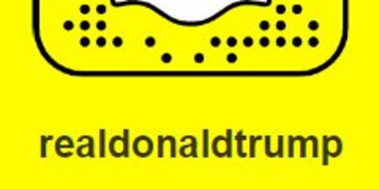 Donald Trump's Snapchat icon.
