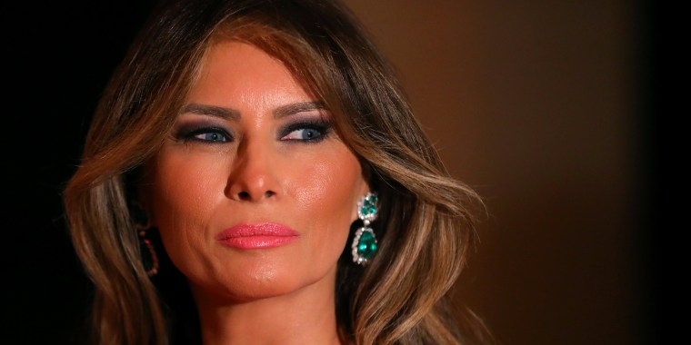 Image: First Lady Melania Trump and U.S. President Donald Trump (not pictured) attend the 60th Annual Red Cross Gala at Mar-a-Lago club in Palm Beach, Florida, U.S.