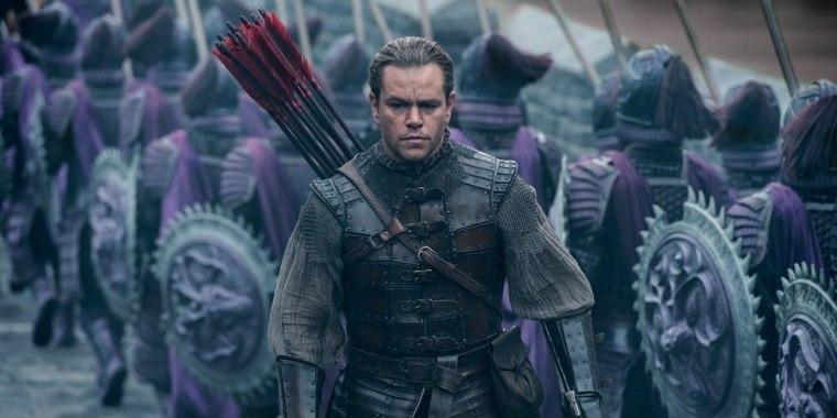 "Matt Damon as William Garin in ""The Great Wall,"" directed by Zhang Yimou."