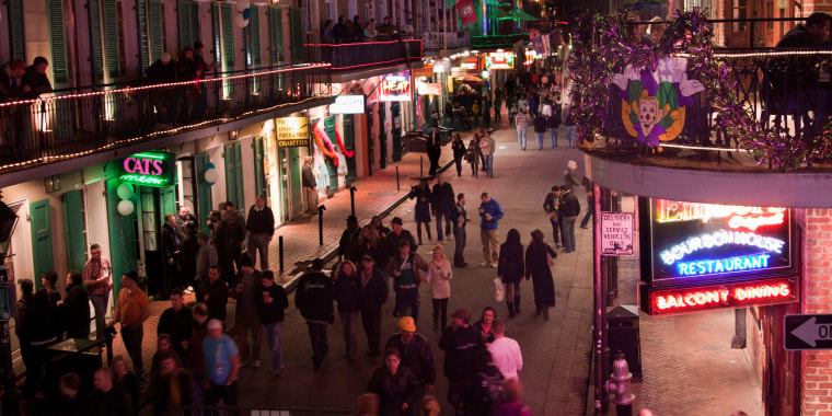 Image: Aerial view of Bourbon Street in New Orleans
