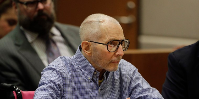 Image: Real estate heir Robert Durst sits in a courtroom during a hearing Wednesday, Dec. 21, 2016, in Los Angeles, Calif.