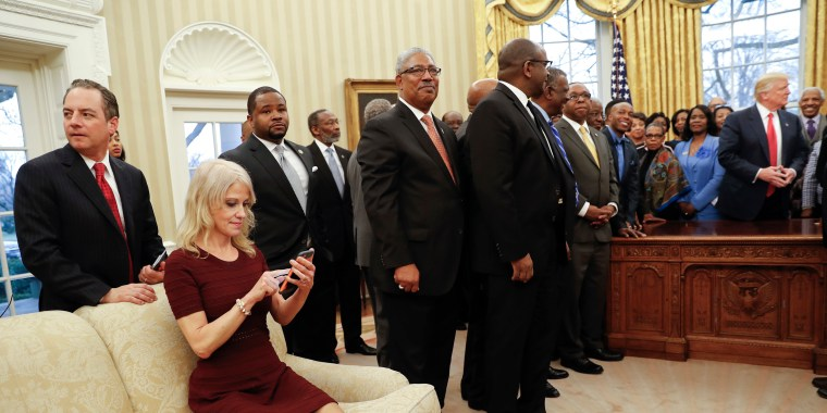 Image: Trump meets with leaders of Historically Black Colleges and Universities
