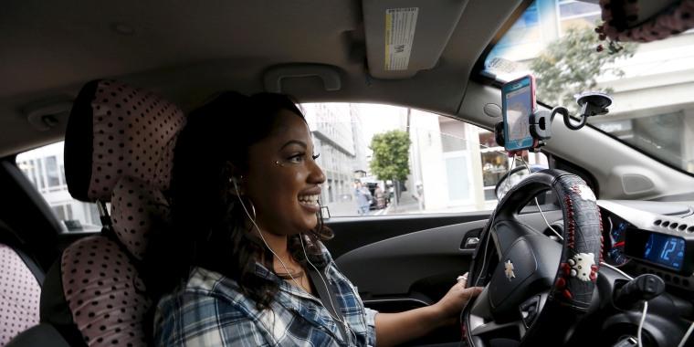 Image: Lyft driver Maya Jackson