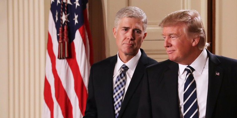 Image: President Donald Trump nominates Judge Neil Gorsuch to the Supreme Court during a ceremony in the East Room of the White House on Jan. 31 in Washington, D.C.