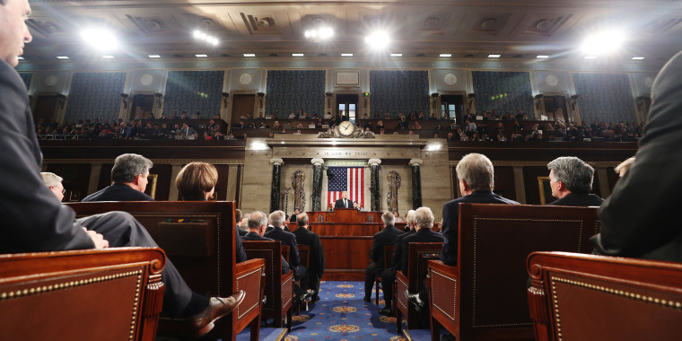 Image: Trump delivers his first address to a joint session of Congress