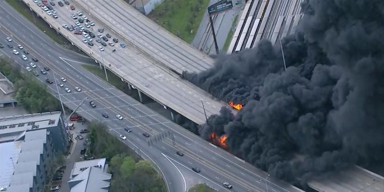 Image: Atlanta highway fire