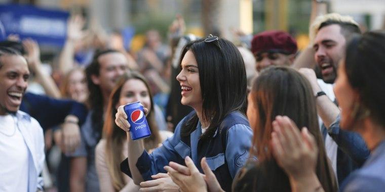 Image: Pepsi PR On-Set With Kendall Jenner