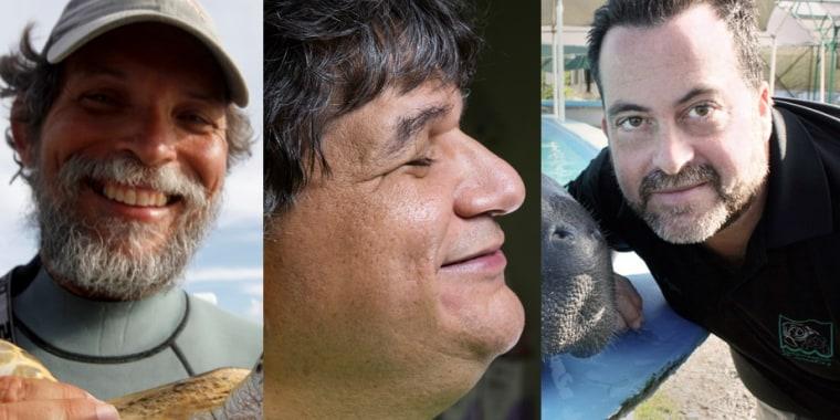 Puerto Rico scientists Carlos Diez, Jafet Velez-Valentin and Tony Mignucci