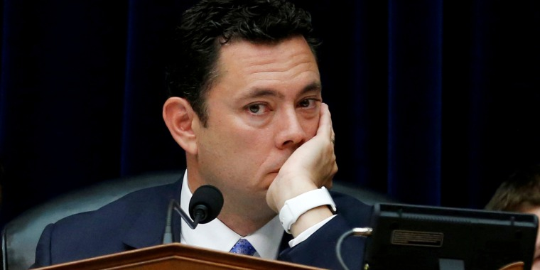 Image: Chaffetz listens to testimony during a House committee hearing