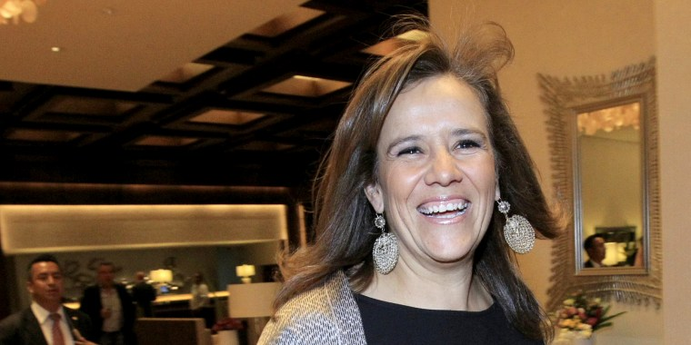 Image: Mexican presidential candidate, Margarita Zavala, at the Club de Industriales in Mexico City