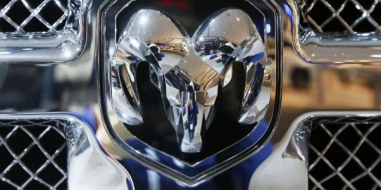 Dodge Ram logo is pictured during the 2013 Los Angeles Auto Show in Los Angeles