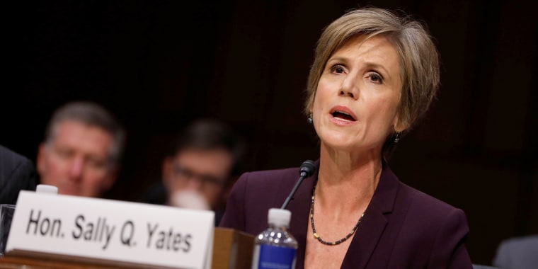 Image: Former Acting Attorney General Sally Yates Testifies on Capitol Hill