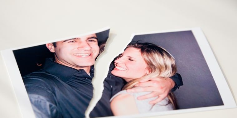Image: Photograph of couple ripped in half