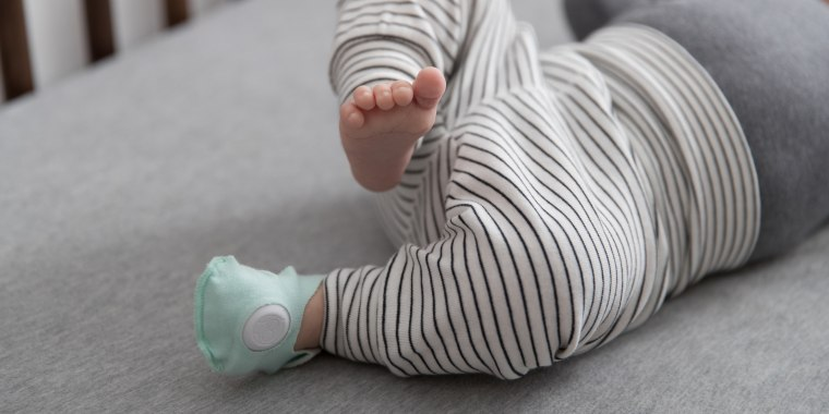 The Owlet Smart Sock is a baby wearable that monitors and keeps track of the baby's heart rate, oxygen levels and breathing.
