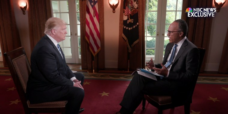 Trump Interview With Lester Holt: President Asked Comey If He Was ...