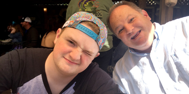 Image: David Cripe with Dad