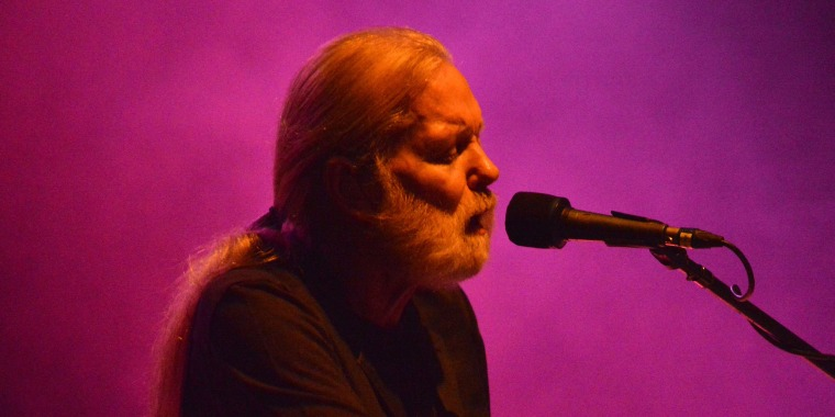Image: Gregg Allman performs onstage at the 2016 Laid Back Fest at Nikon at Jones Beach Theater on July 23, 2016 in Wantagh, New York.