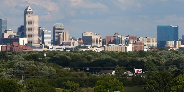 Image: The skyline of downtown Indianapolis