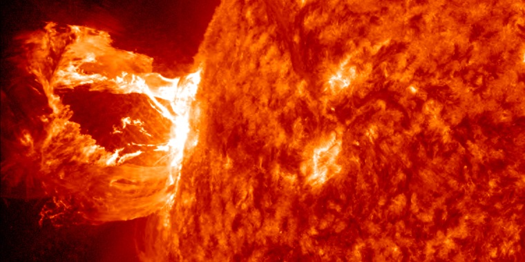 Image:This image provided by NASA shows the sun releasing a M1.7 class flare.