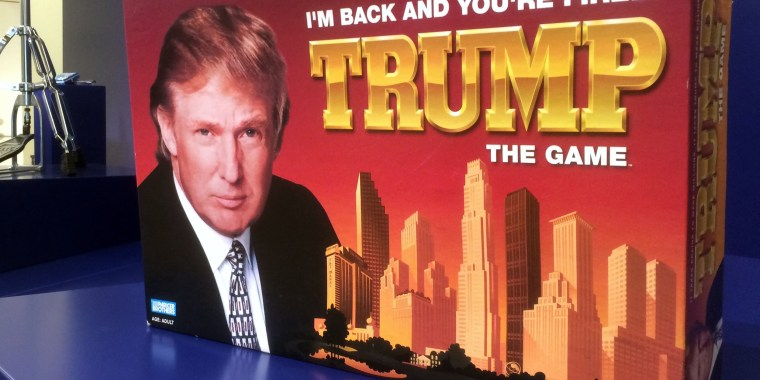 """Image: """"I'm Back And You're Fired! Trump The Game"""" is on display at the Museum of Failure in Helsingborg, Sweden"""