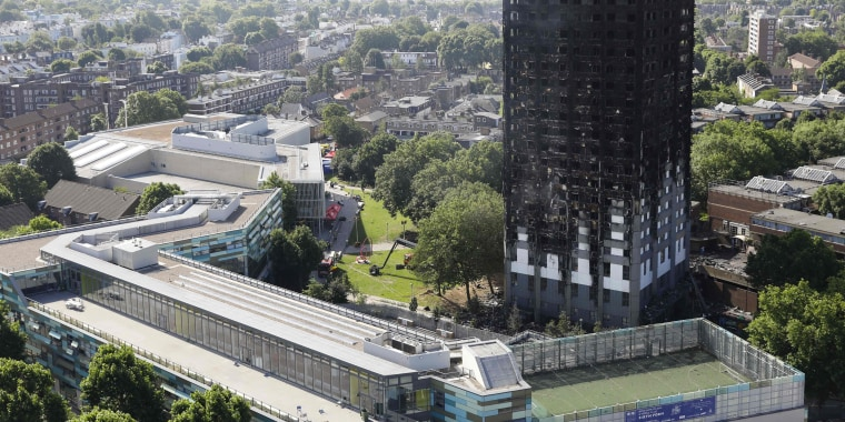 Image: The remains of Grenfell Tower