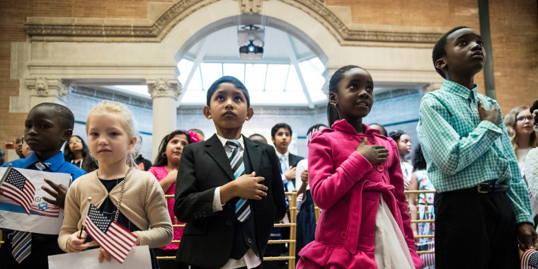 Children's Citizenship Ceremony Held At The Bronx Zoo In New York