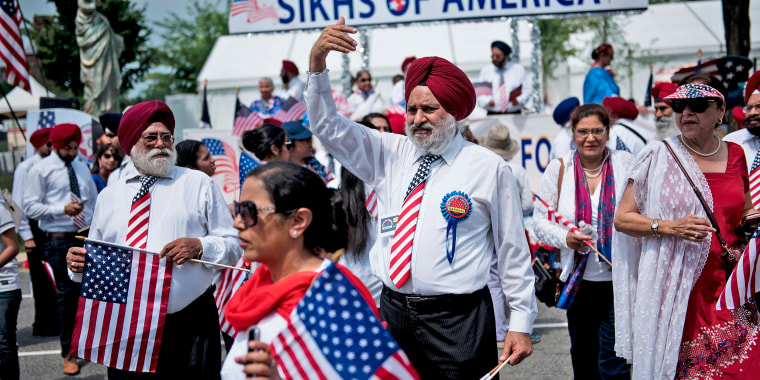 Image: Sikhs gather for a parade