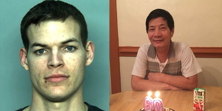 Johnathan Cromwell, left, has been charged in the death of Jiansheng Chen, right.
