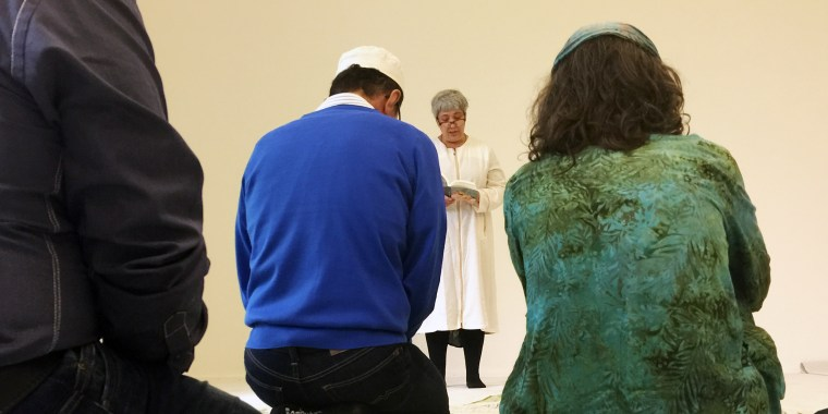 Image: Seyran Ates, a Turkish-born lawyer and women's rights campaigner, at Friday prayer in Berlin's (liberal) Ibn Rushd-Goethe mosque