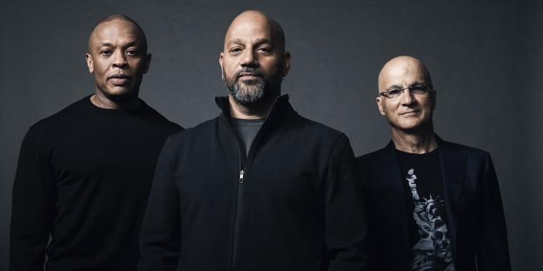 Image: Dr. Dre, Allen Hughes, Jimmy Iovine