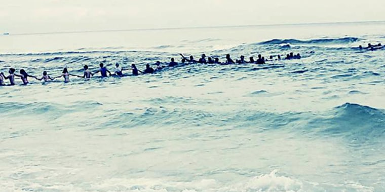Image: Human Chain Rescue